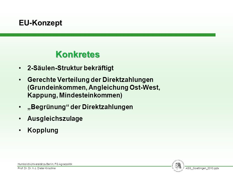 Konkretes EU-Konzept 2-Säulen-Struktur bekräftigt