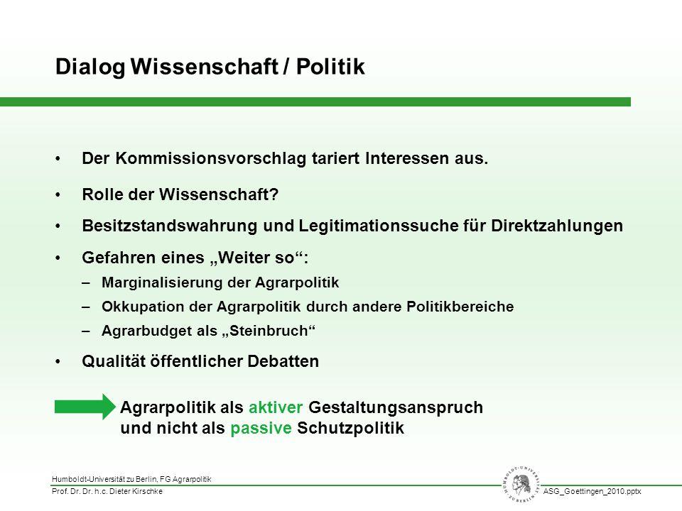 Dialog Wissenschaft / Politik