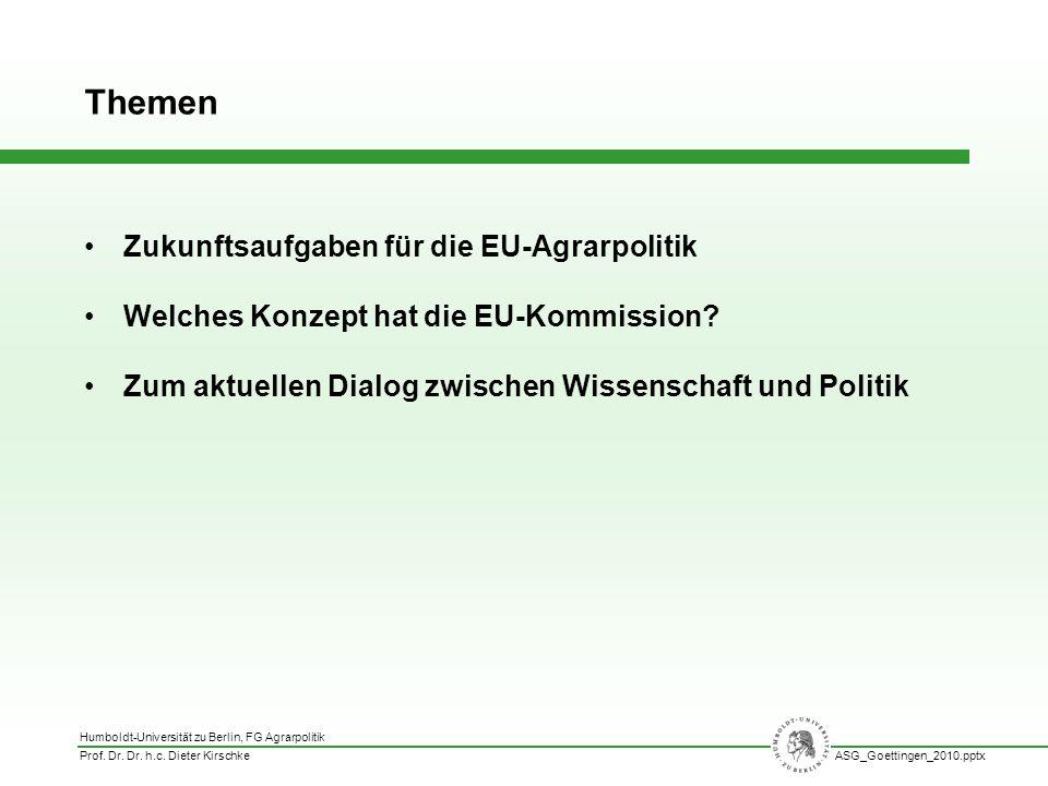 Themen Zukunftsaufgaben für die EU-Agrarpolitik