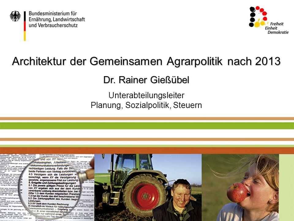 Mustertext Architektur der Gemeinsamen Agrarpolitik nach 2013