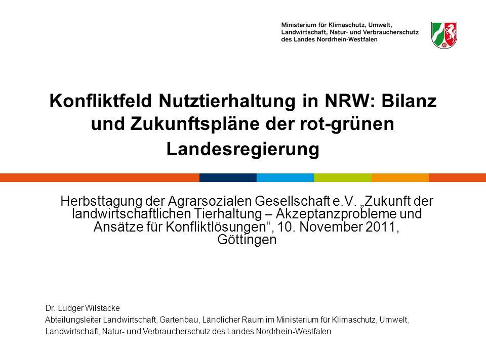 Konfliktfeld Nutztierhaltung in NRW: Bilanz und Zukunftspläne der rot-grünen Landesregierung