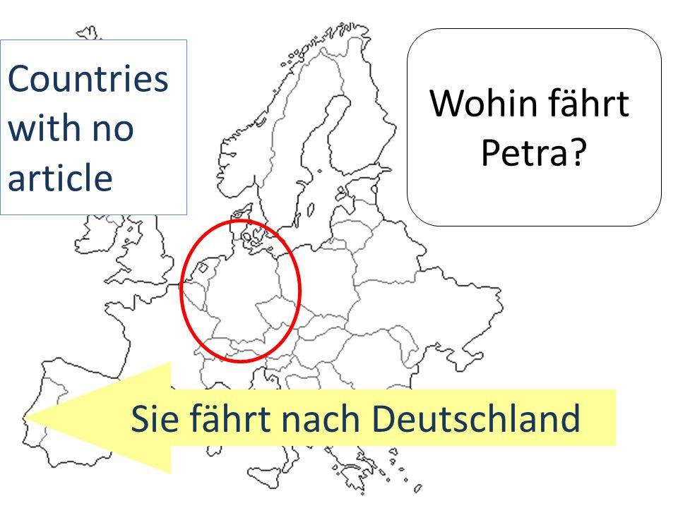 Sie fährt nach Deutschland