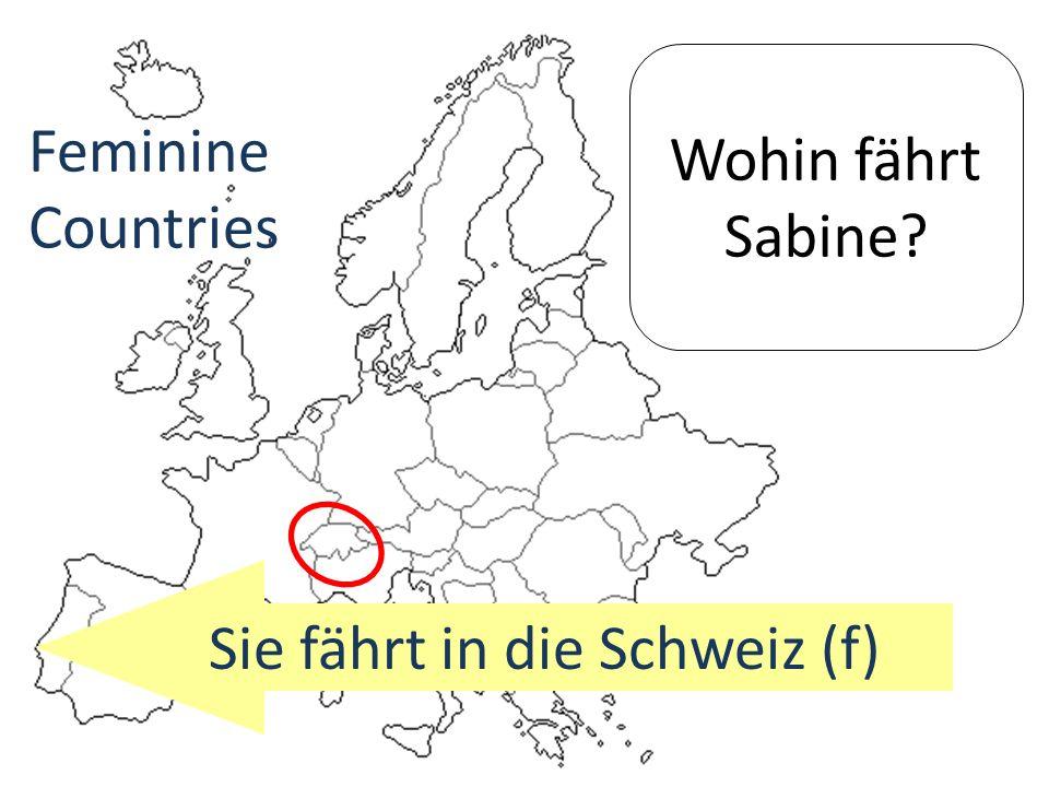 Sie fährt in die Schweiz (f)