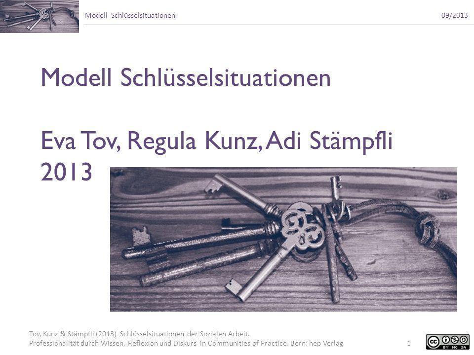 Modell Schlüsselsituationen Eva Tov, Regula Kunz, Adi Stämpfli 2013