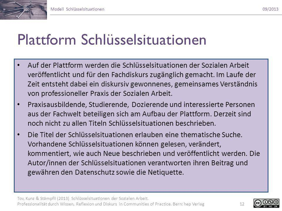 Plattform Schlüsselsituationen