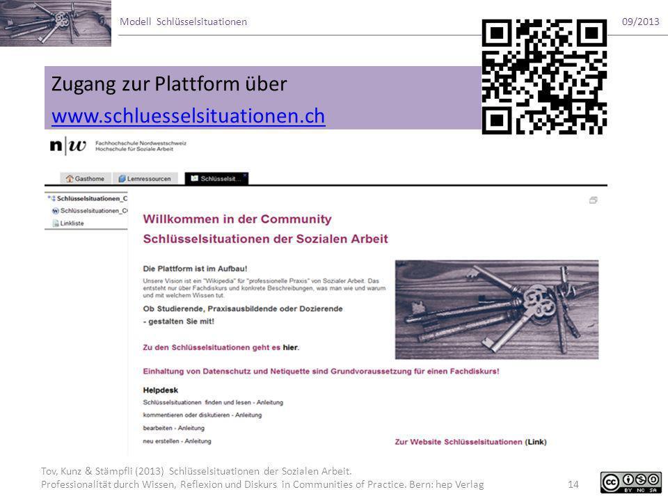 Zugang zur Plattform über