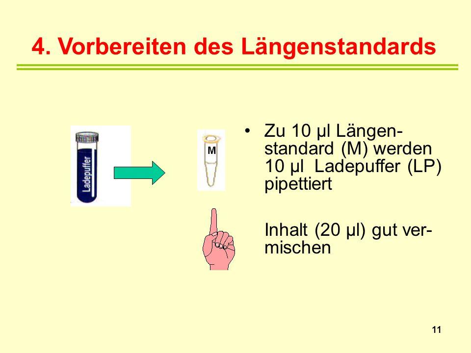 4. Vorbereiten des Längenstandards