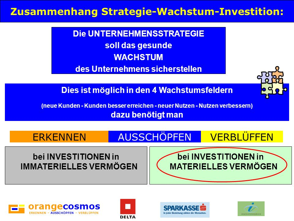 Zusammenhang Strategie-Wachstum-Investition: