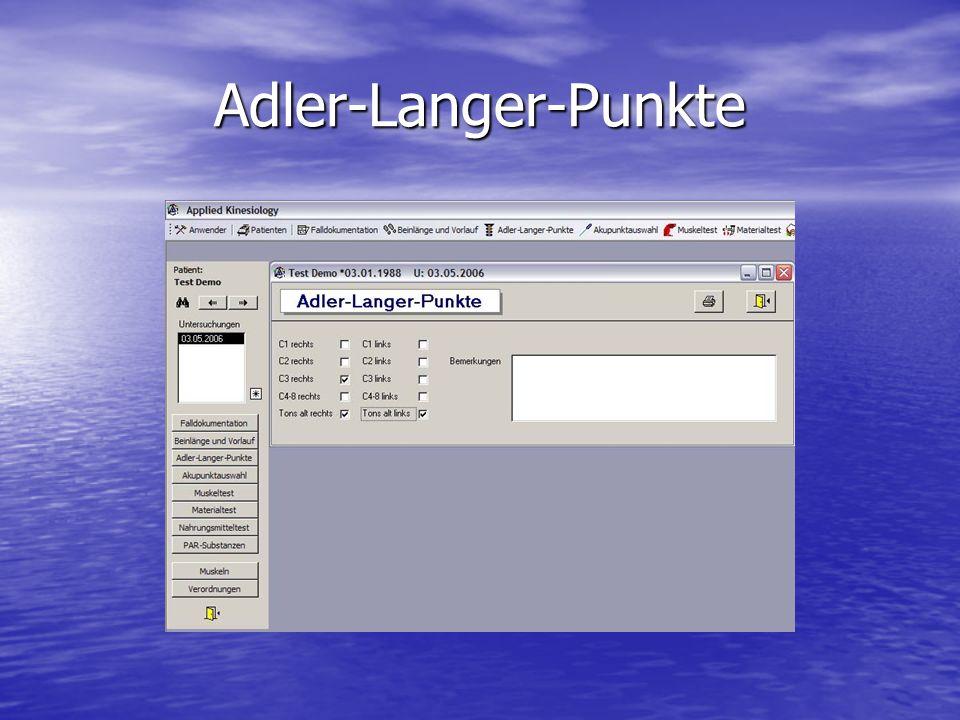 Adler-Langer-Punkte