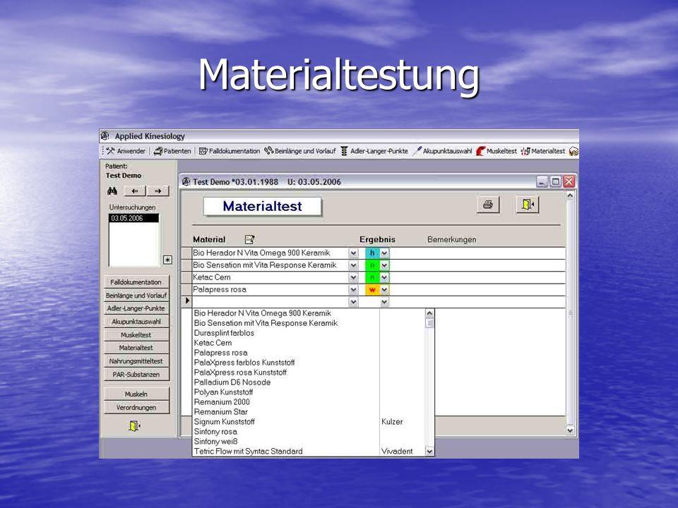 Materialtestung