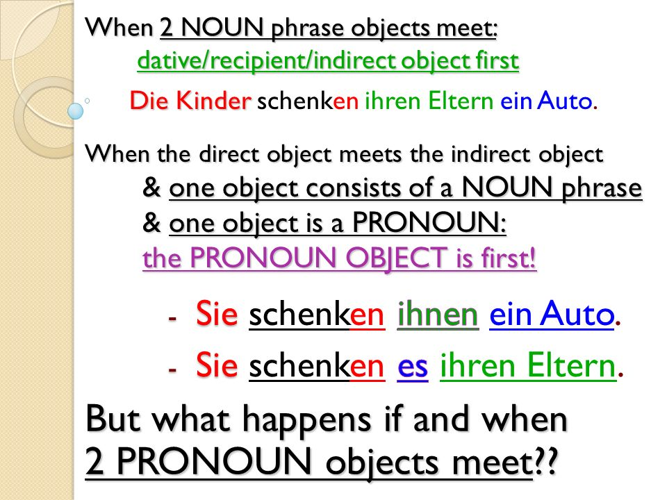 But what happens if and when 2 PRONOUN objects meet