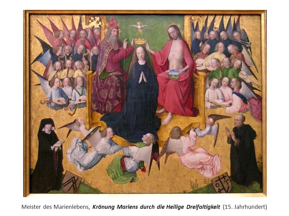 Meister des Marienlebens, Krönung Mariens durch die Heilige Dreifaltigkeit (15. Jahrhundert)