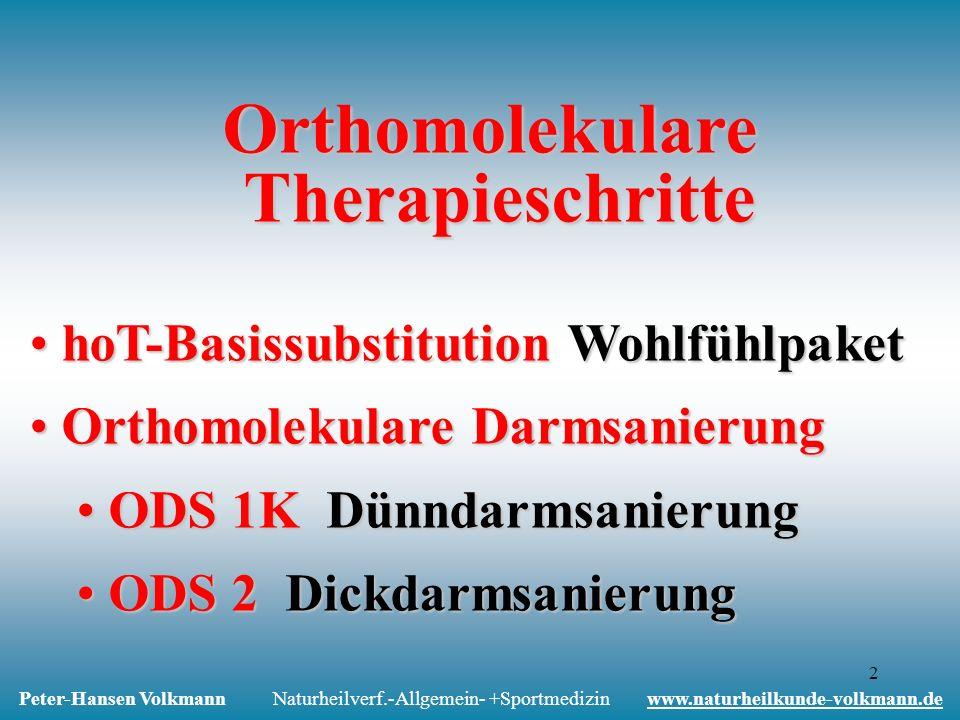 Orthomolekulare Therapieschritte