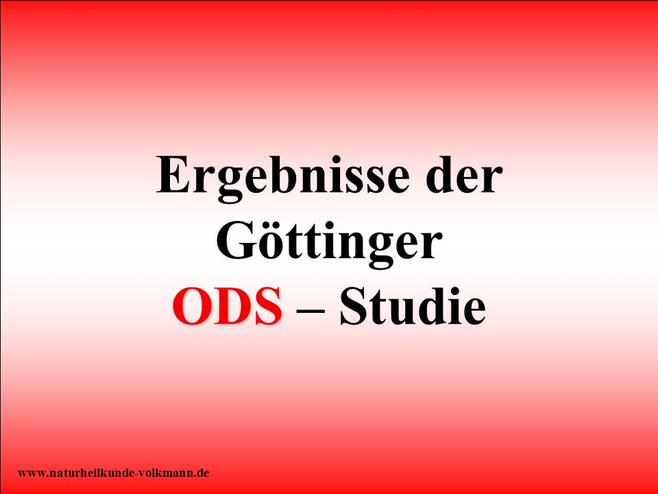 Ergebnisse der Göttinger ODS – Studie