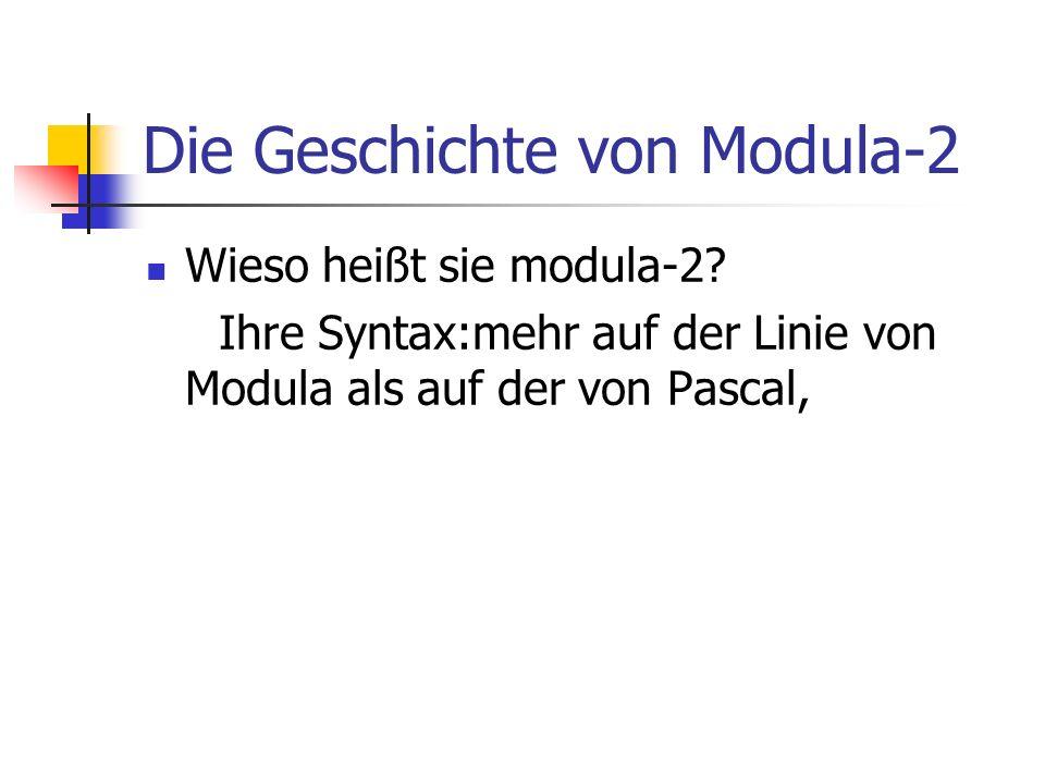 Die Geschichte von Modula-2