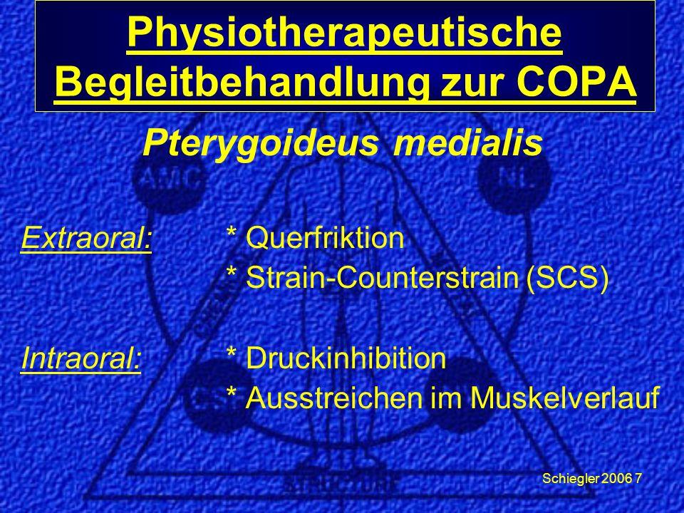 Physiotherapeutische Begleitbehandlung zur COPA