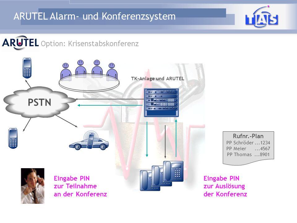 PSTN Option: Krisenstabskonferenz Eingabe PIN zur Teilnahme