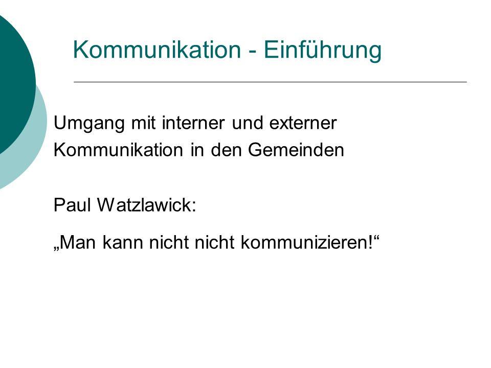 Kommunikation - Einführung