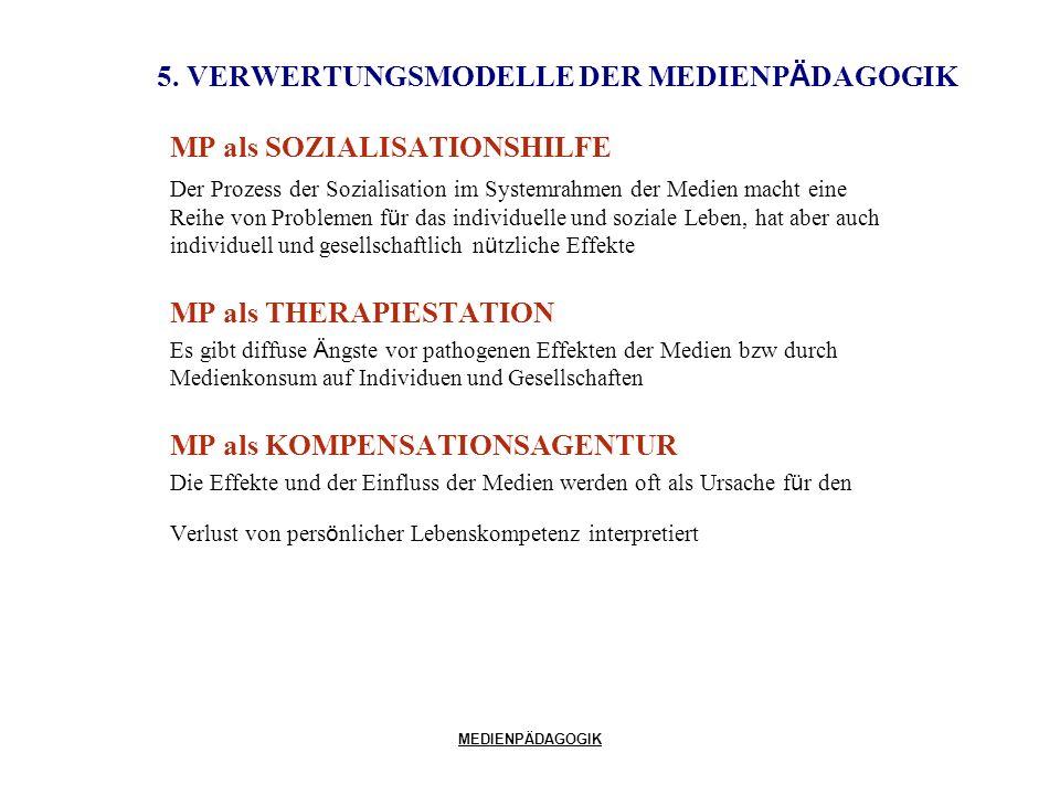 5. VERWERTUNGSMODELLE DER MEDIENPÄDAGOGIK