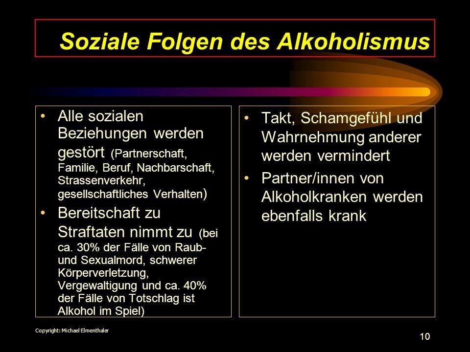 Soziale Folgen des Alkoholismus