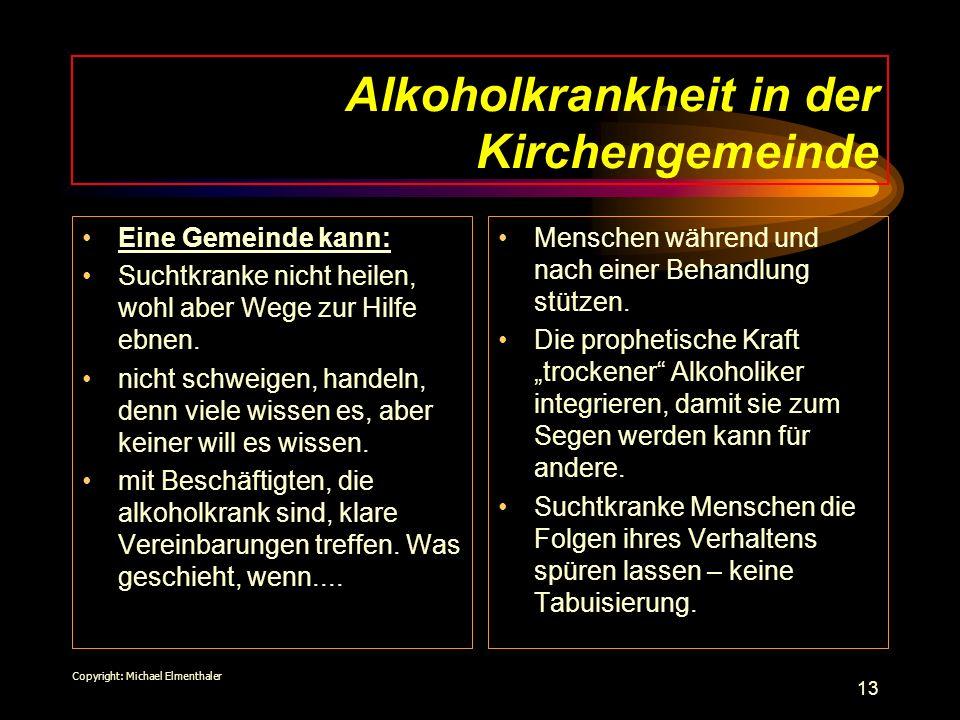 Alkoholkrankheit in der Kirchengemeinde