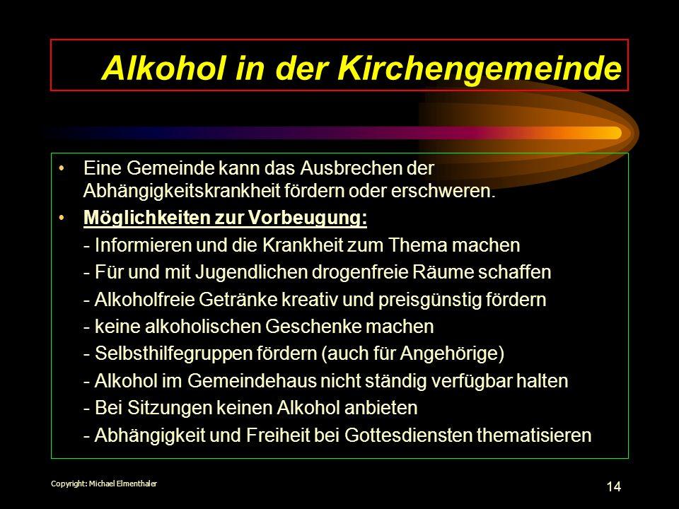 Alkohol in der Kirchengemeinde