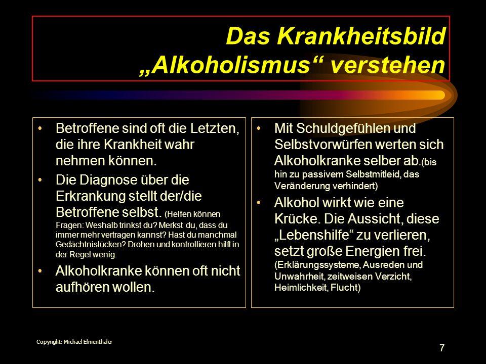 """Das Krankheitsbild """"Alkoholismus verstehen"""
