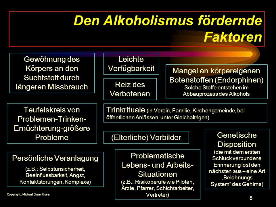 Den Alkoholismus fördernde Faktoren