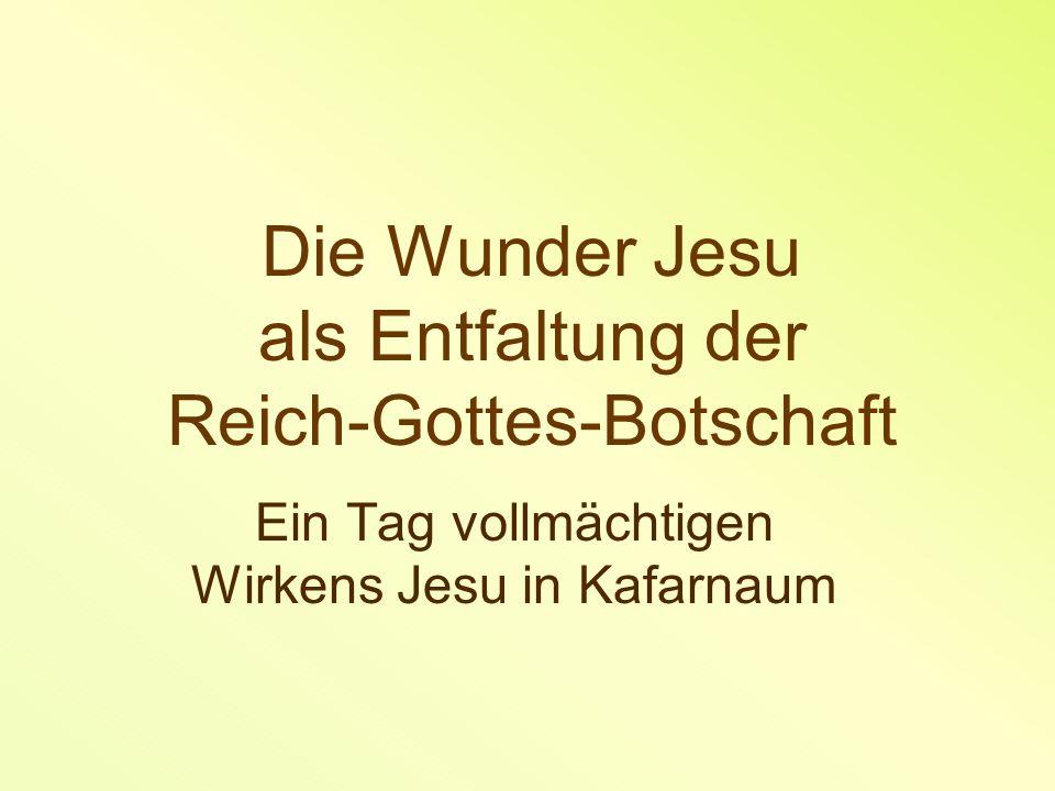 Die Wunder Jesu als Entfaltung der Reich-Gottes-Botschaft