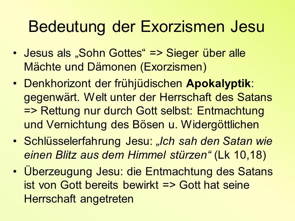 Bedeutung der Exorzismen Jesu