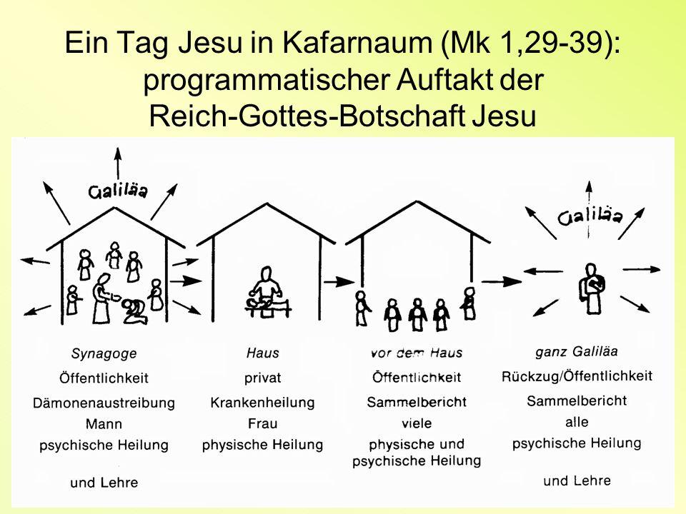 Ein Tag Jesu in Kafarnaum (Mk 1,29-39): programmatischer Auftakt der Reich-Gottes-Botschaft Jesu