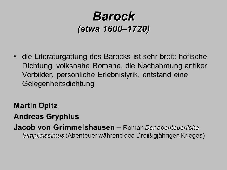 Barock (etwa 1600–1720)