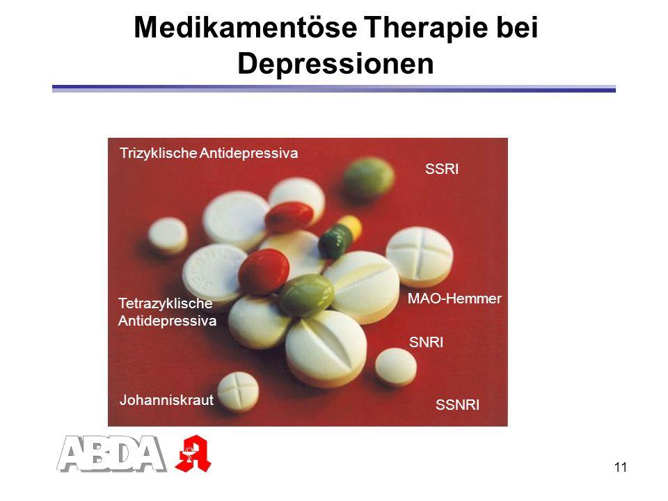 Medikamentöse Therapie bei Depressionen