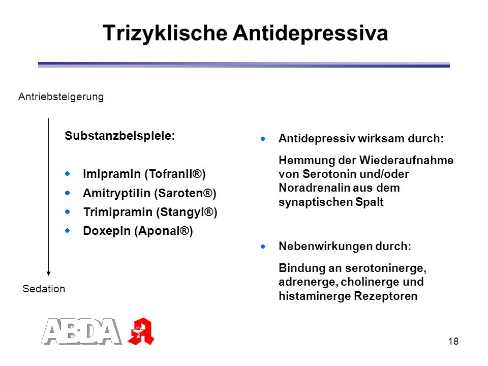 Trizyklische Antidepressiva