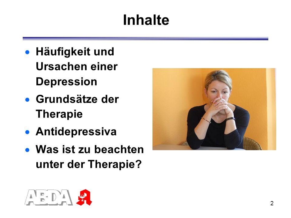 Inhalte Häufigkeit und Ursachen einer Depression