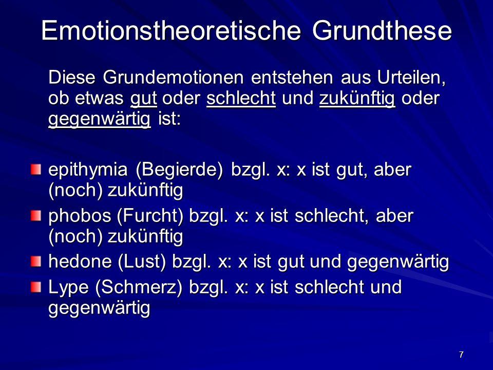 Emotionstheoretische Grundthese