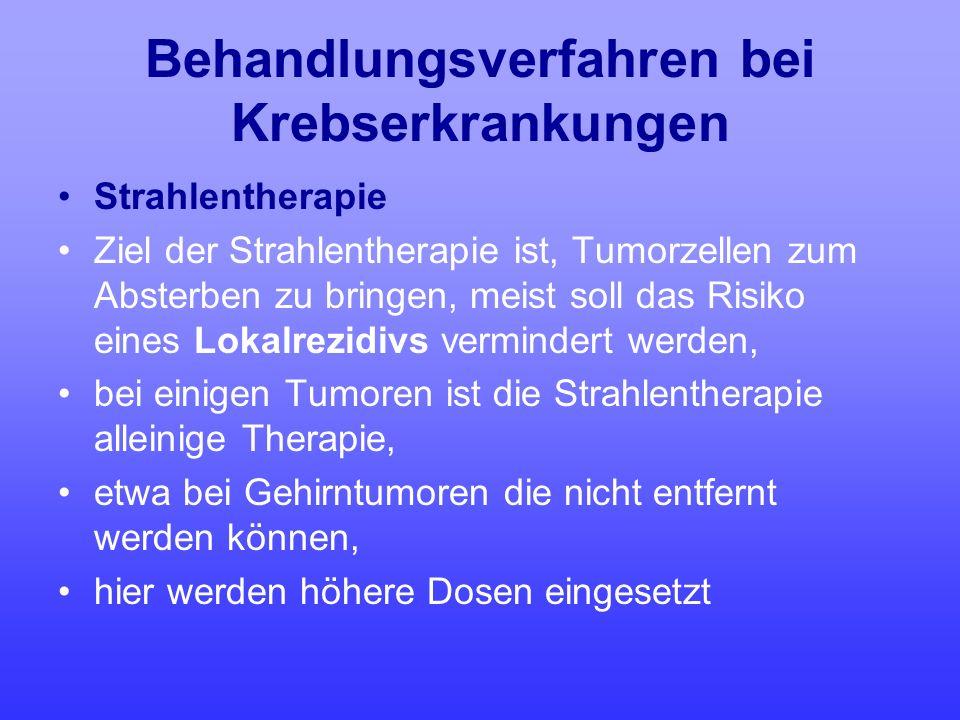 Behandlungsverfahren bei Krebserkrankungen