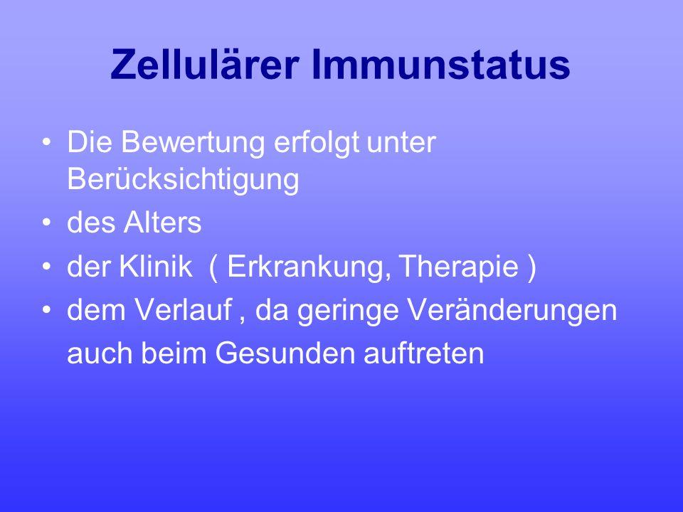 Zellulärer Immunstatus