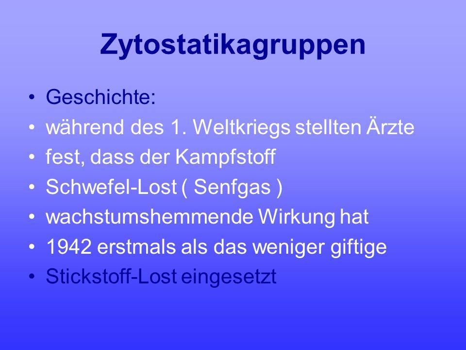 Zytostatikagruppen Geschichte: