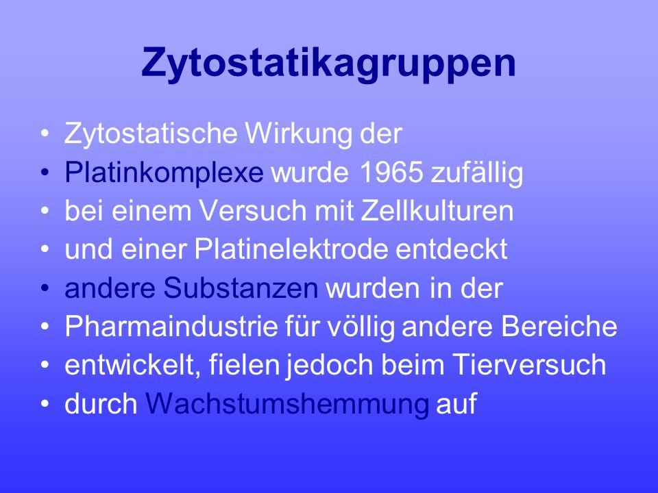 Zytostatikagruppen Zytostatische Wirkung der