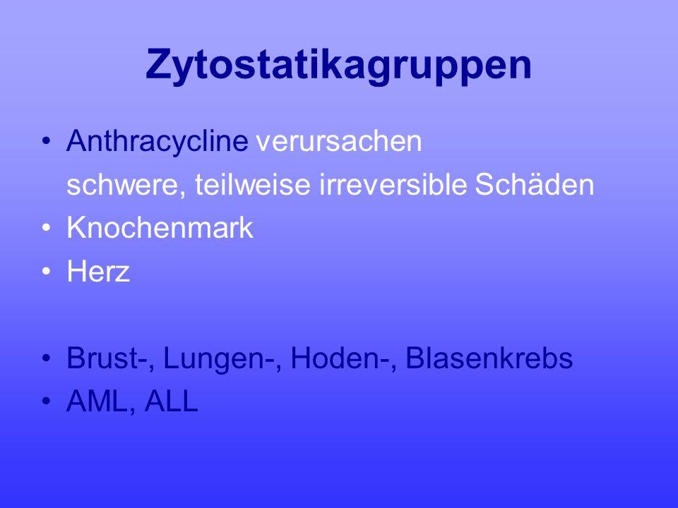 Zytostatikagruppen Anthracycline verursachen