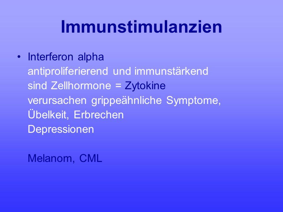 Immunstimulanzien Interferon alpha