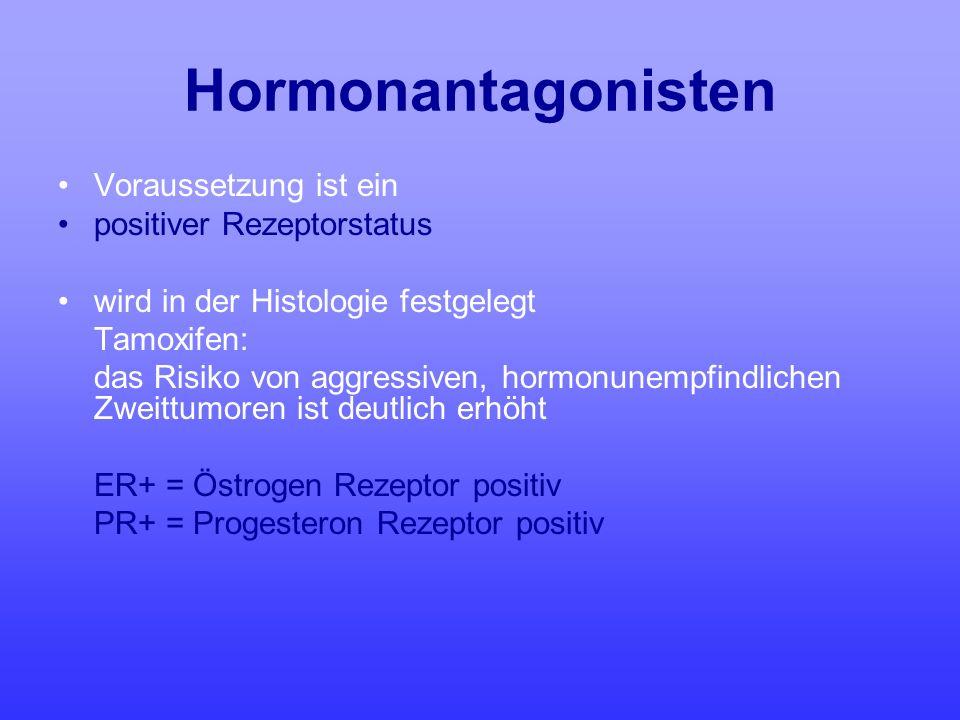 Hormonantagonisten Voraussetzung ist ein positiver Rezeptorstatus