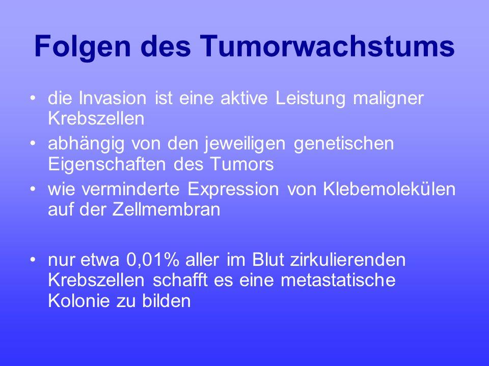 Folgen des Tumorwachstums