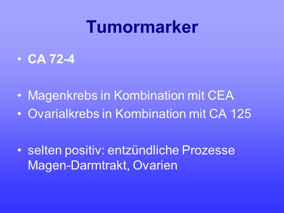 Tumormarker CA 72-4 Magenkrebs in Kombination mit CEA