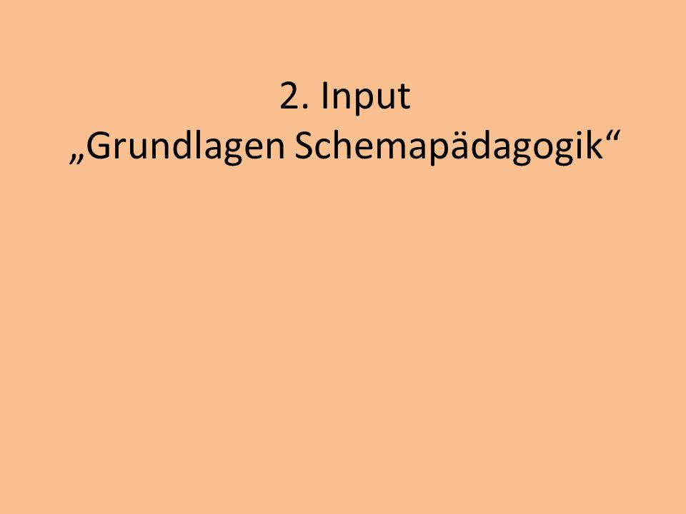 """2. Input """"Grundlagen Schemapädagogik"""