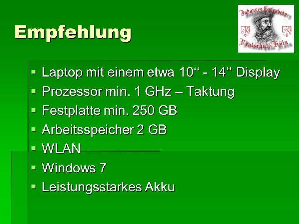 Empfehlung Laptop mit einem etwa 10'' - 14'' Display