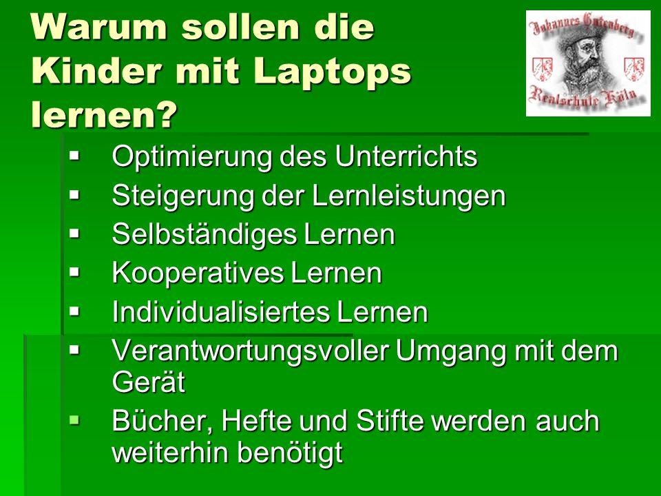 Warum sollen die Kinder mit Laptops lernen