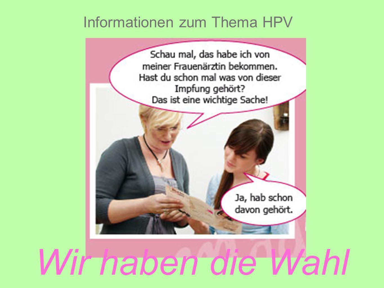 Informationen zum Thema HPV