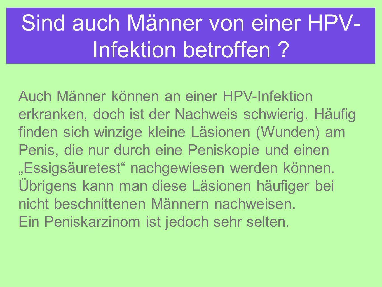 Sind auch Männer von einer HPV-Infektion betroffen
